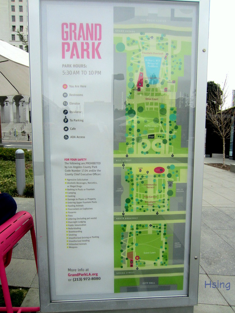 Grand Park Los Angeles Map  Indiana Map