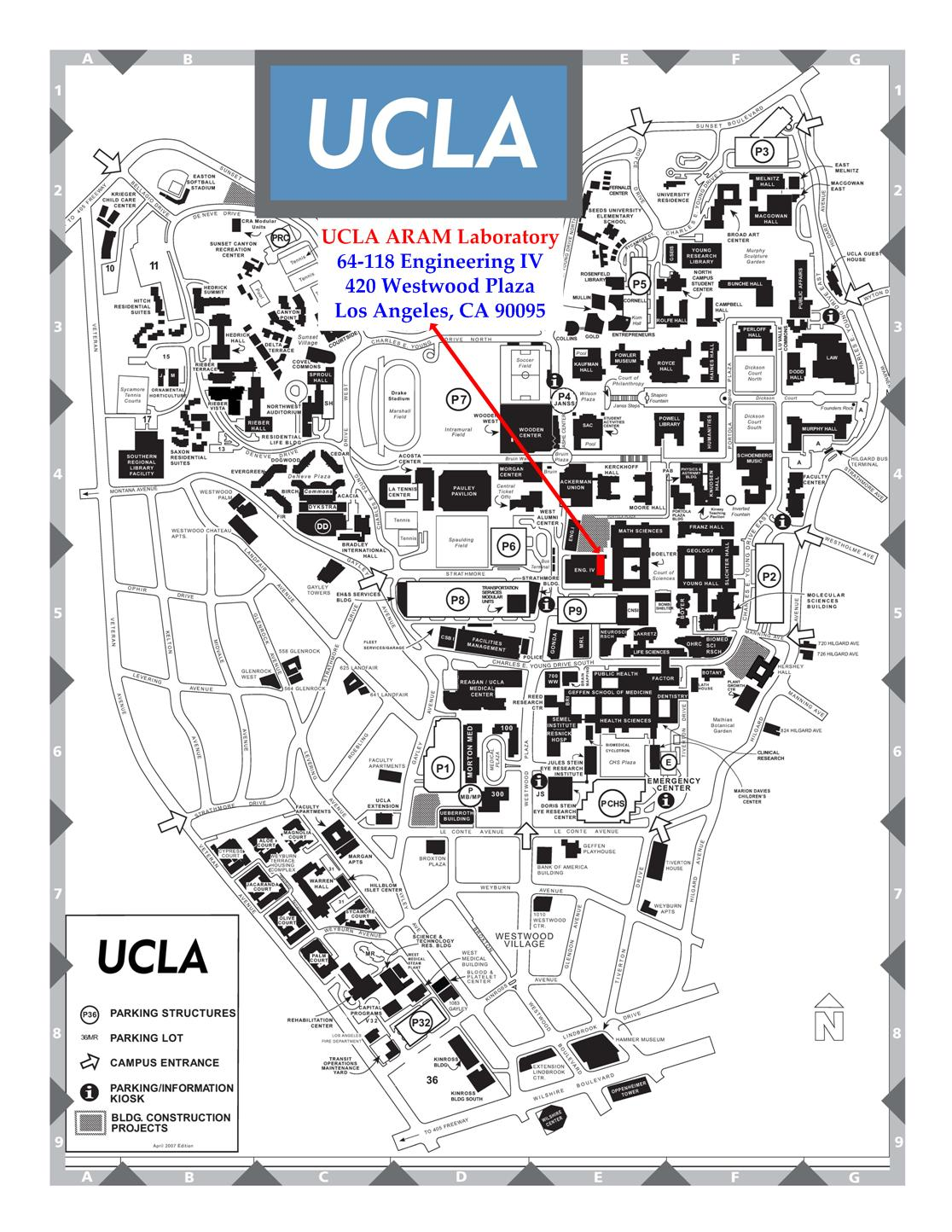 updated . map of ucla  my blog